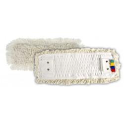 Frange coton à poche/languett oeillets 40cm
