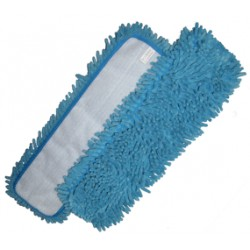 Frange microfibre Rasta velcro Bleu 40cm