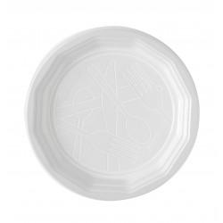 Assiette ronde blanche 20cm plastique par 100