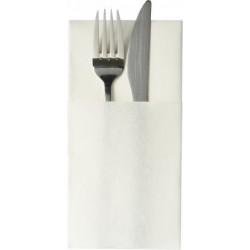 Serviettes Celi-Soft Lunch pochette Blanc 40x40