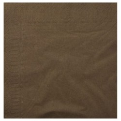 Serviettes Ouate chocolat 20x20 2 plis