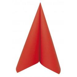 Serviette voie sèche 40x40 Rouge